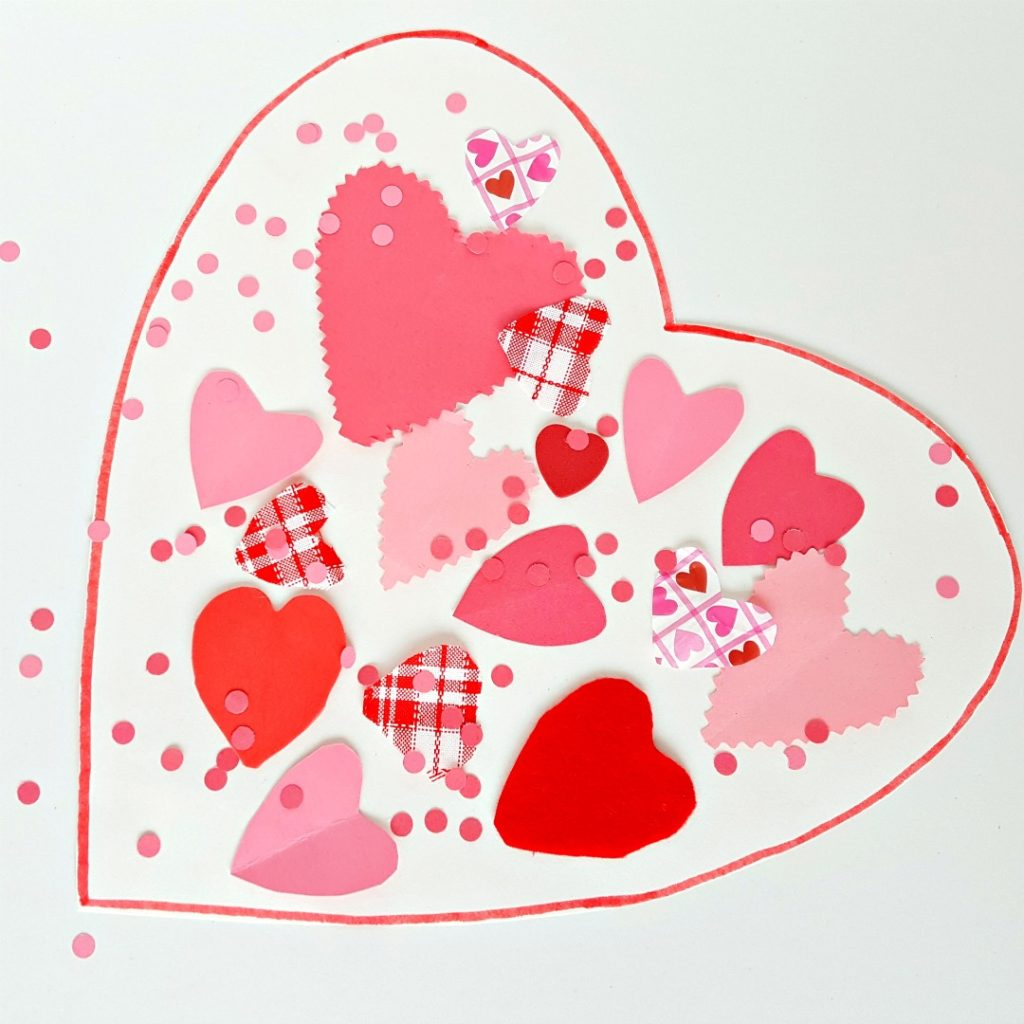 Valentine's Day Collage Craft for Toddlers