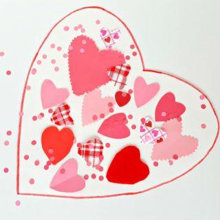 valentine-themed collage toddler art activity