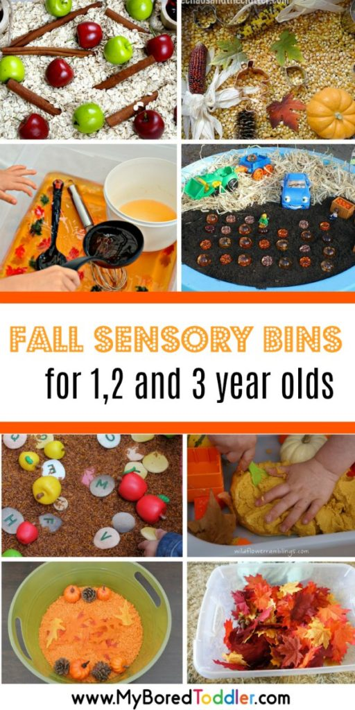 fall sensory bins for 1 2 and 3 year olds pinterest