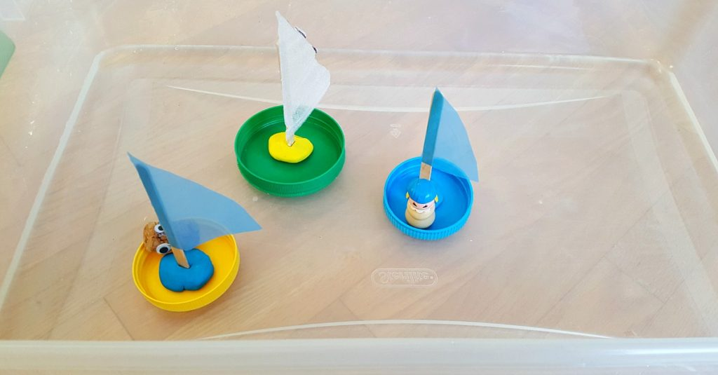 jar lid boats craft and activity toddler water play