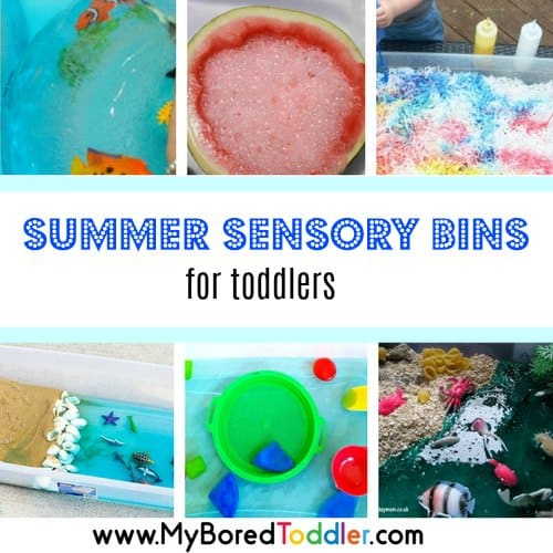 Summer Sensory Bins for Toddlers