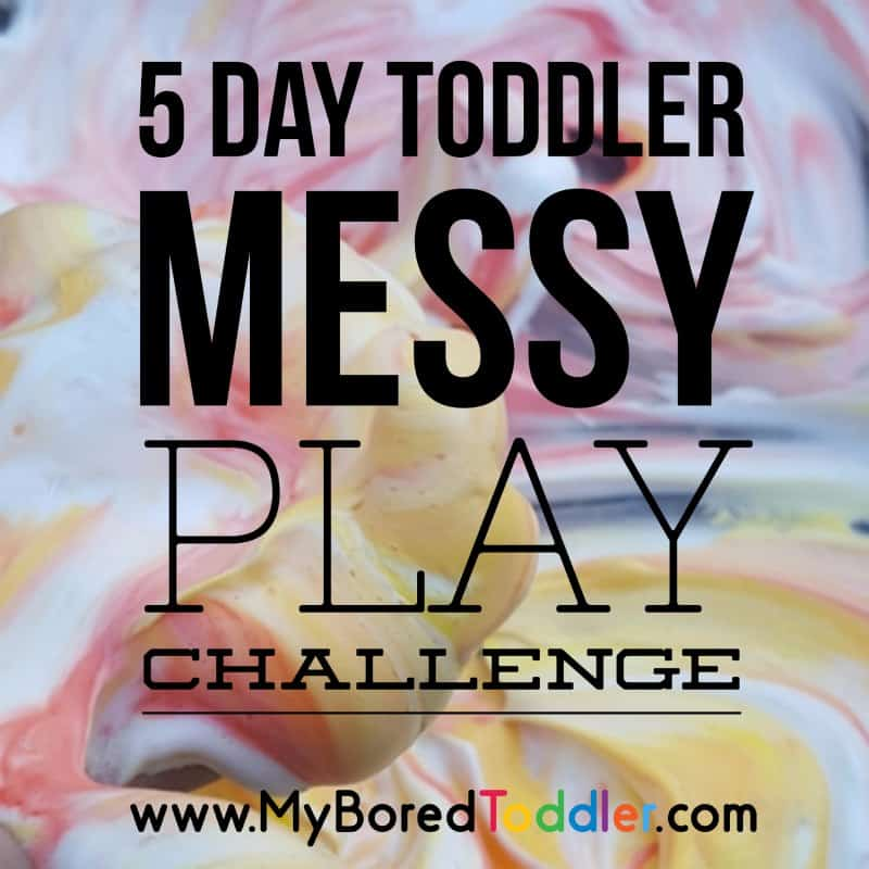 What you need to take part in a messy play challenge!