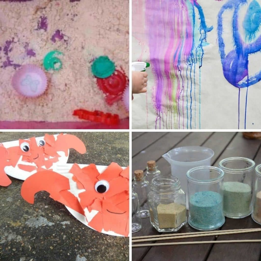 Summer Activites for toddlers to do at home and summer craft ideas for 1 2 and 3 year olds