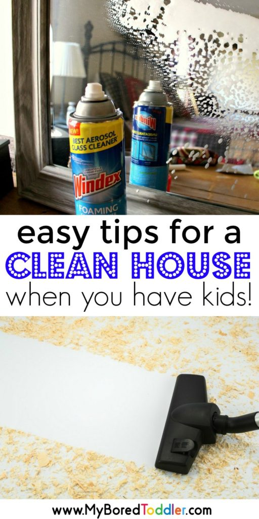 easy tips for a clean house when you have kids