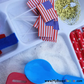 patriotic sensory bin image 4