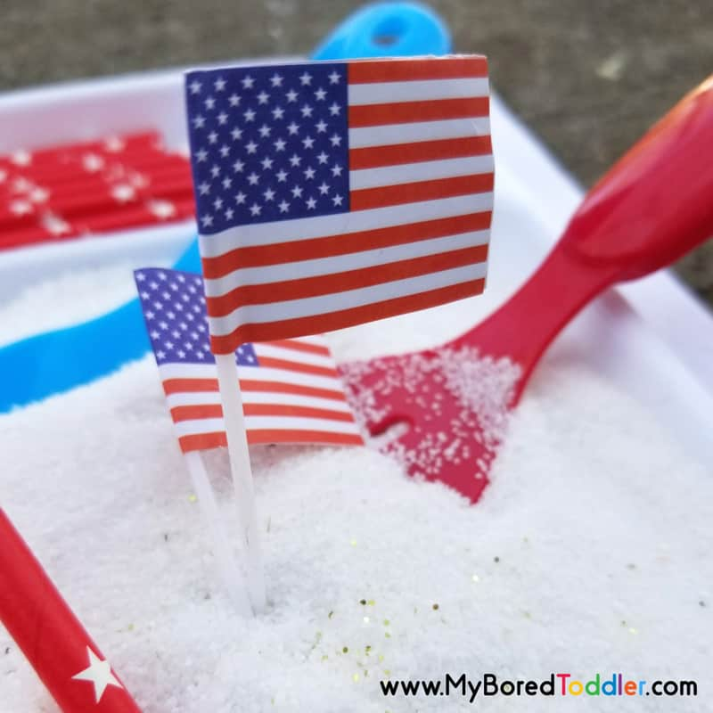 patriotic sensory bin memorial day 4th july image 3