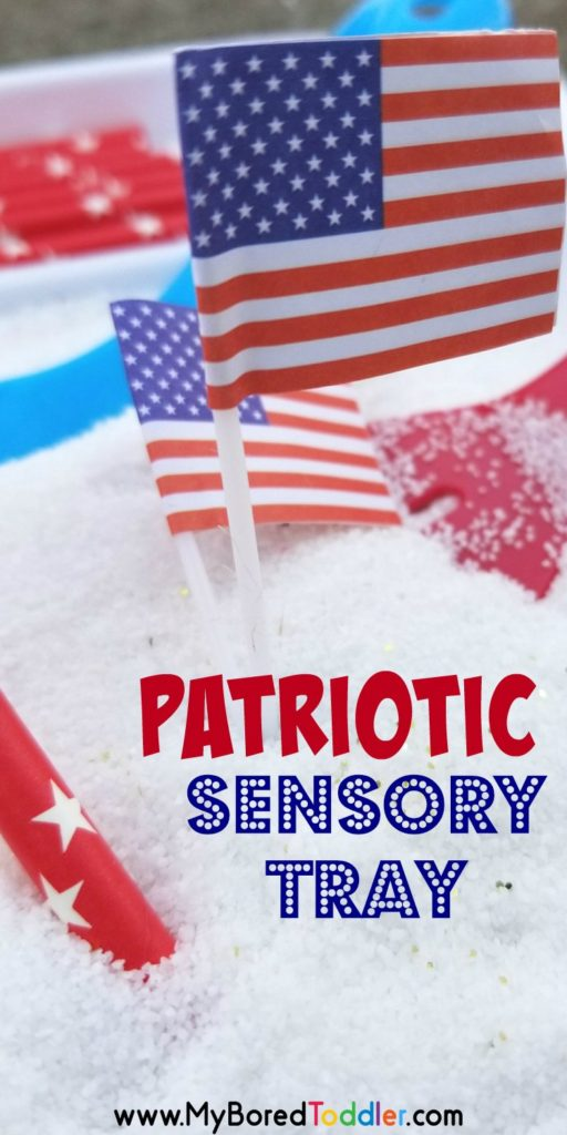 patriotic sensory tray pinterest