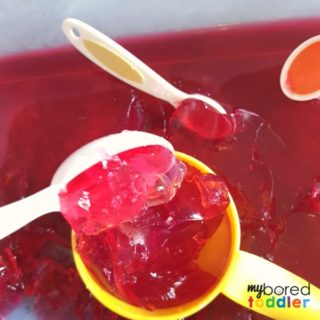 messy play with jello and jelly sensory play for babies toddlers