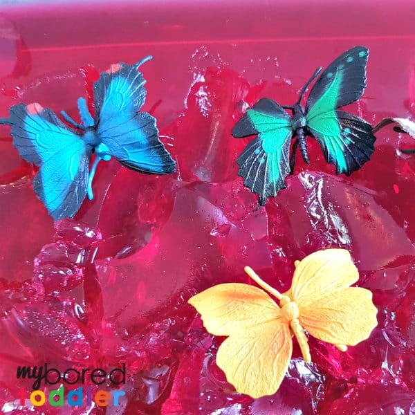 toys in jello jelly sensory and messy play for babies and toddlers