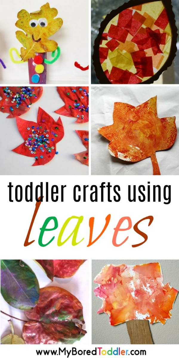 leaf and leaves crafts and activities for toddlers, 1 year old, 2 year old , 3 year old