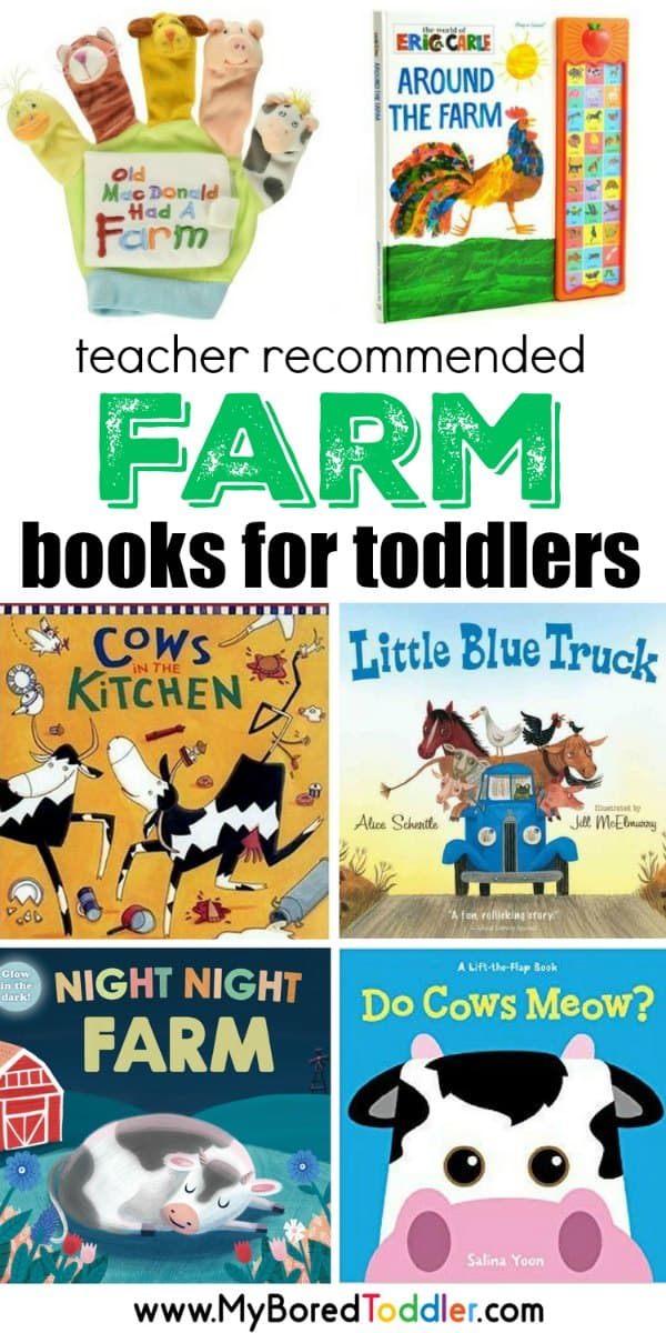 teacher recommended best farm books for toddlers and babies