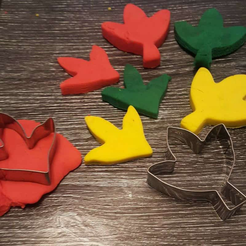 Easy Autumn / Fall Playdough Activity