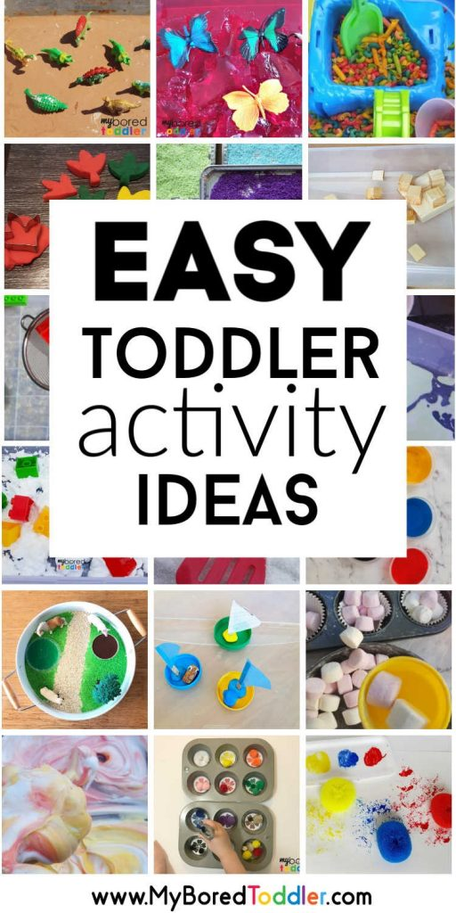 easy toddler activity ideas that parents can do at home - great activities for toddlers