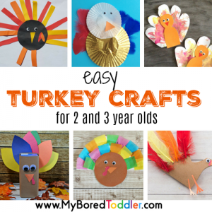 easy turkey crafts for 2 and 3 year olds square