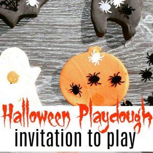 halloween playdough invitation to play feature