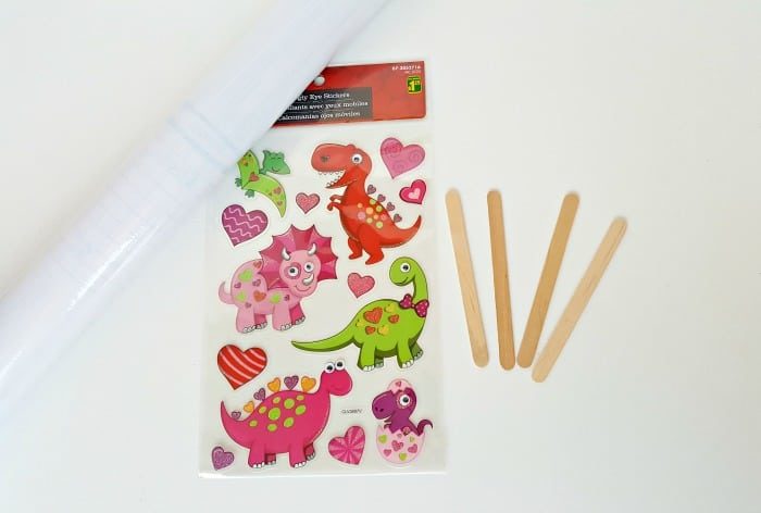 Supplies for craft stick puppets