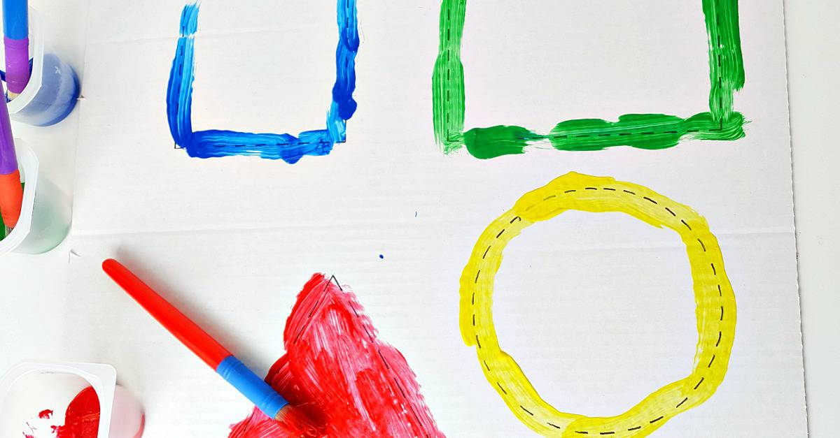 Toddler shapes painting activity