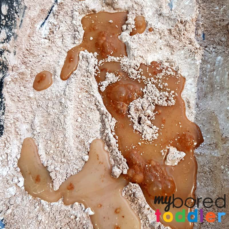 dinosaurs in mud taste safe oobleck for toddlers and preschoolers sensory play sensory bin