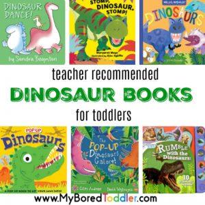 teacher recommended dinosaur books for toddlers