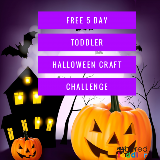 free toddler halloween craft challenge