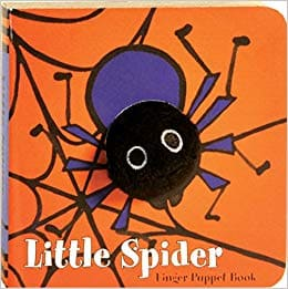 Little spider finger puppet book for Halloween toddlers