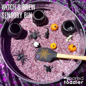 Witch's brew sensory rice bin FEATURE