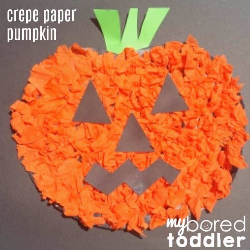 crepe paper pumpkin feature