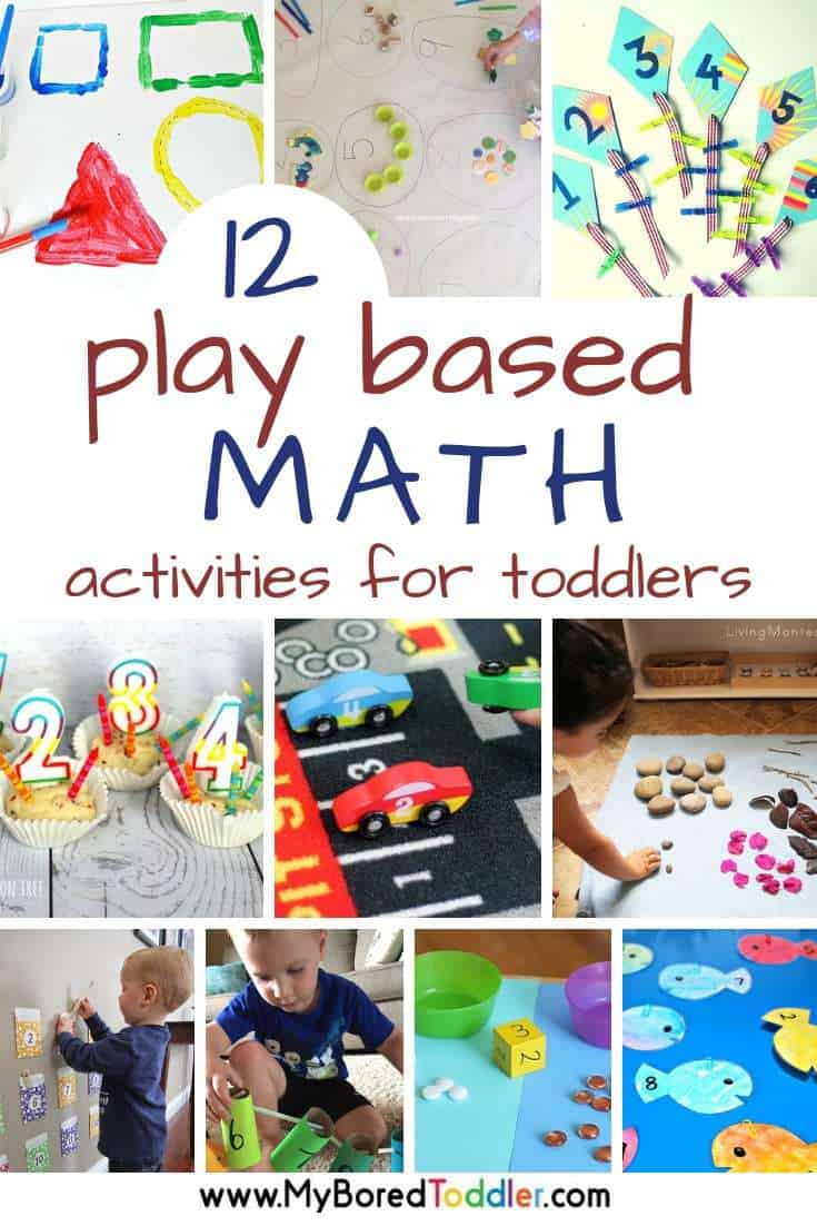 Play Based Math Activities for Toddlers - My Bored Toddler
