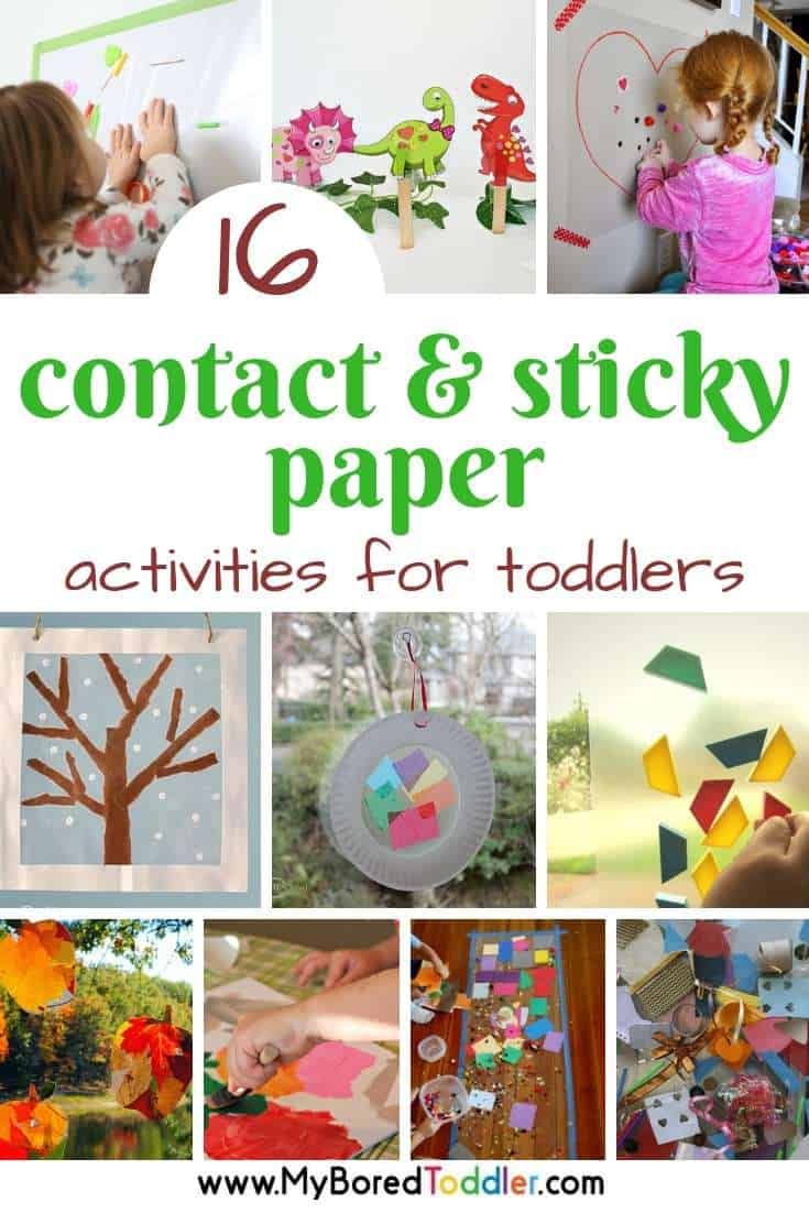 16 contact and sticky paper activities for toddlers - My Bored Toddler