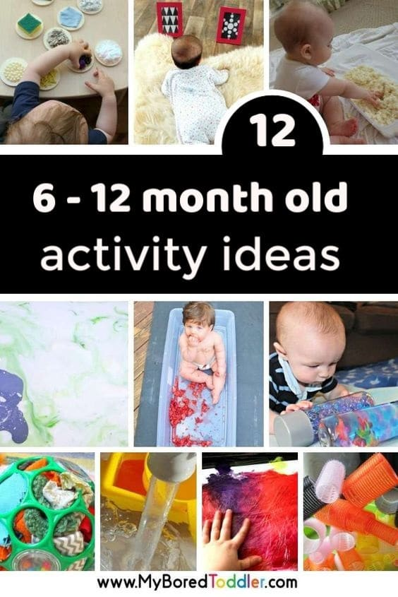 6 - 12 month old activity ideas for baby play at home pinterest