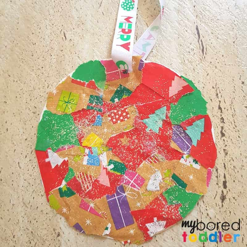 easy christmas ornament finished