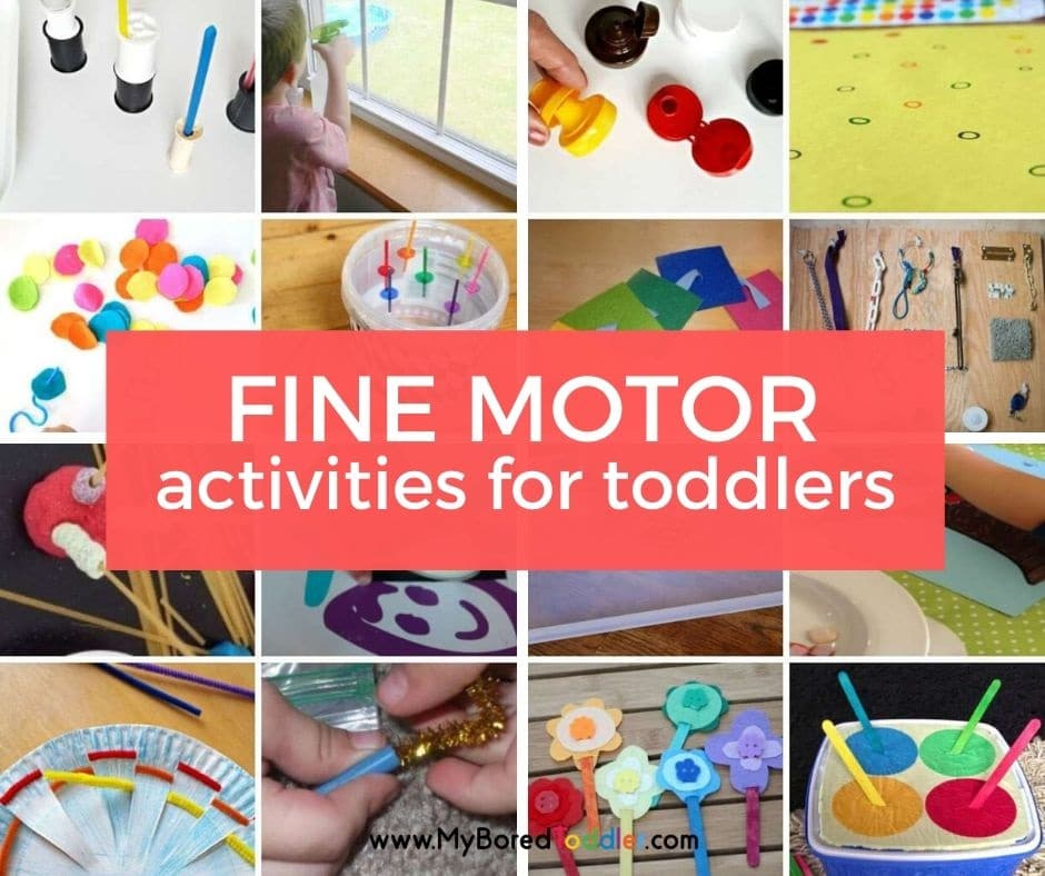 fine motor activities for toddlers feature image