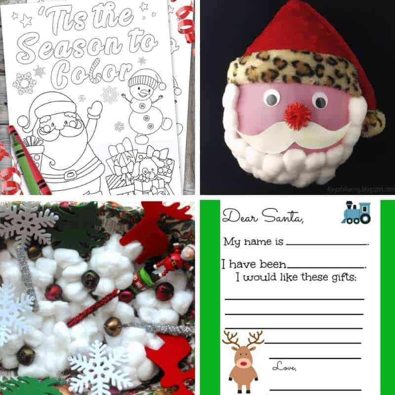 santa activities for toddlers