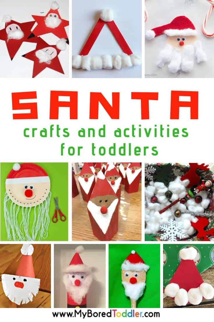 santa crafts and activities for toddlers