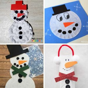 snowman craft ideas for winter