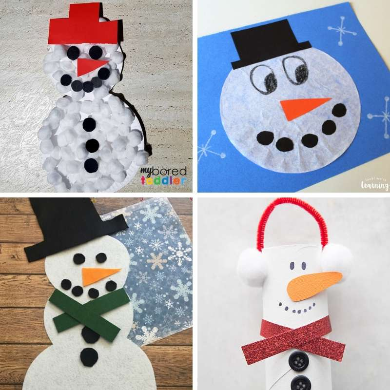 Snowman Crafts And Activities For Toddlers My Bored Toddler