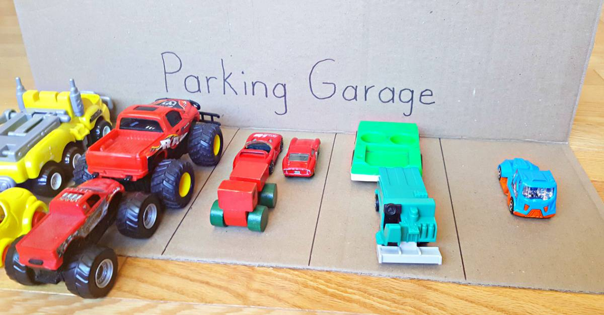 Color sorting with toddlers using toy cars