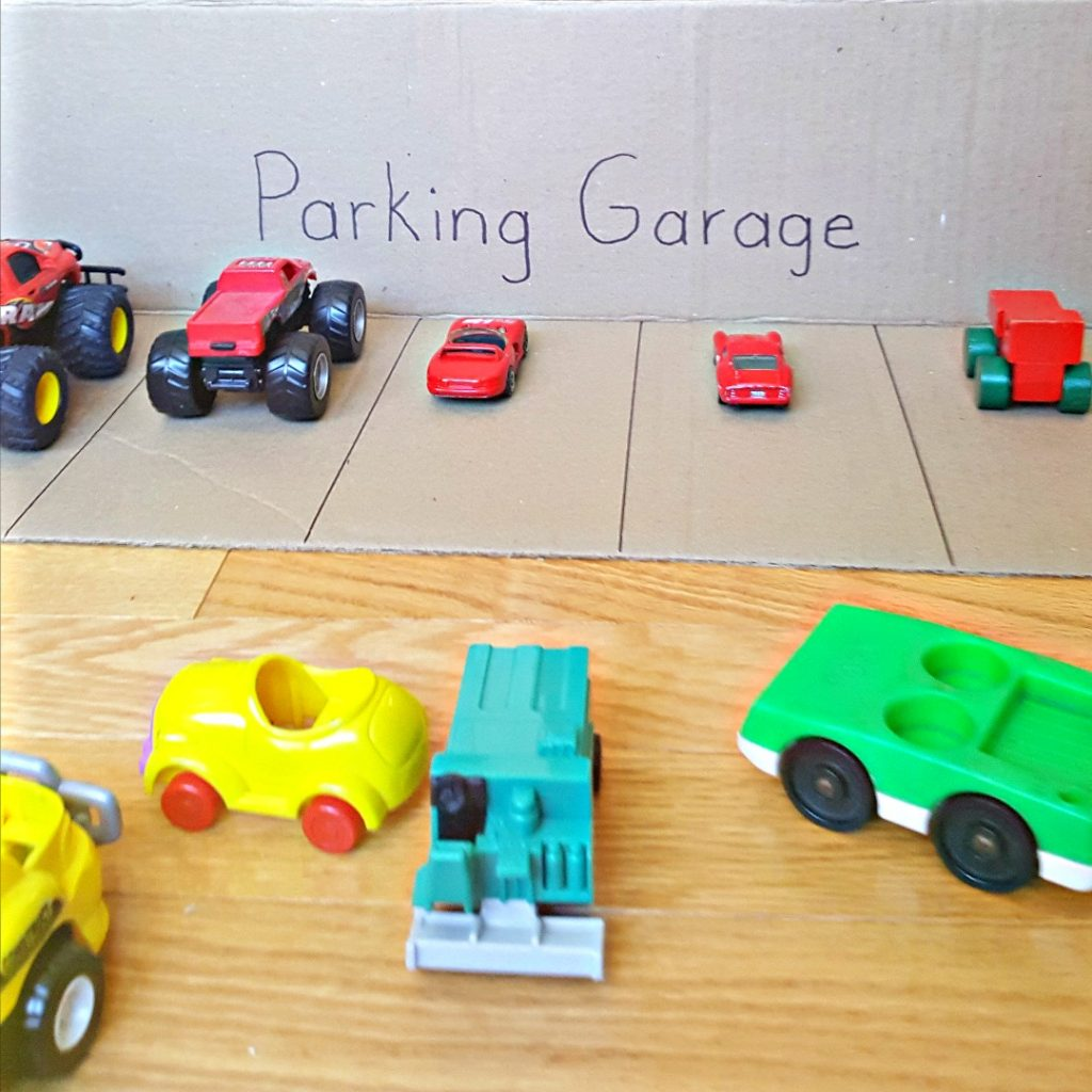 Toy Car Sorting Activity for Toddlers