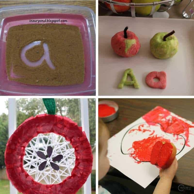 apple crafts for kids