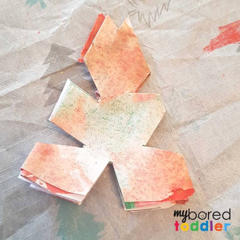easy christmas painted snowflake craft cut out