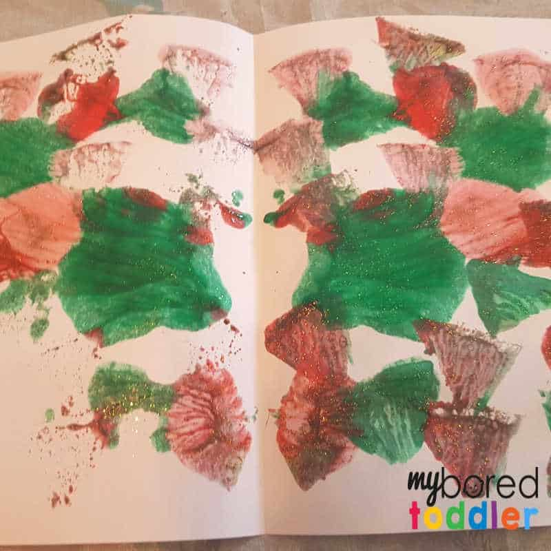 easy christmas painted snowflake craft opening hte paper 1