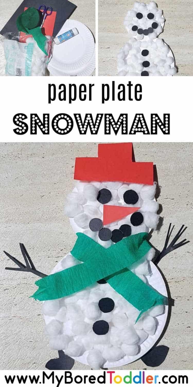 paper plate snowman pinterest final