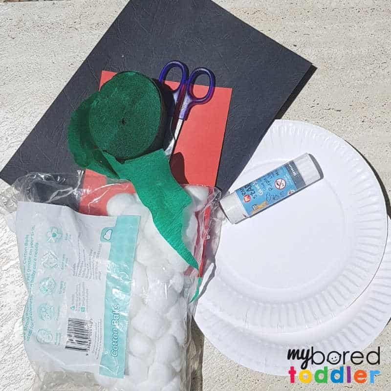 paperplate snowman craft what you need