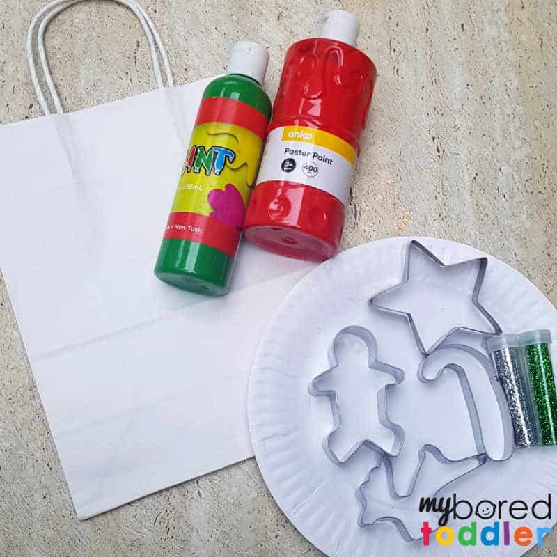stamped gift bag craft for toddlers and preschoolers what you need