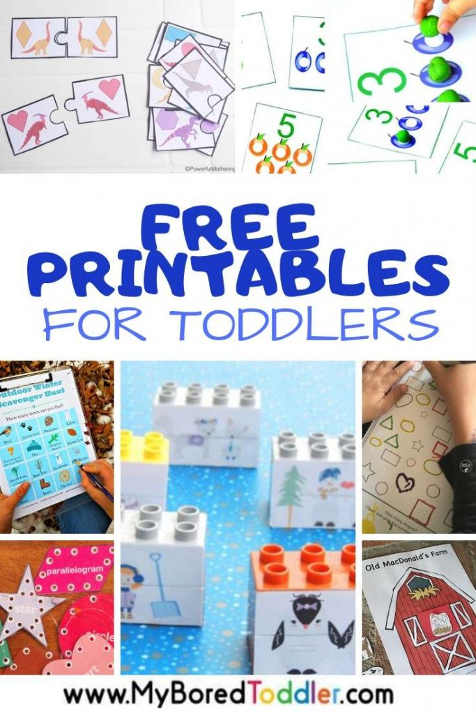 Simple and Fun Free Printables for Toddlers featured at My Bored Toddler