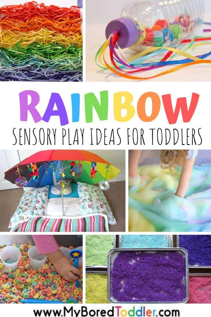 Rainbow sensory play ideas for toddlers to try this Spring
