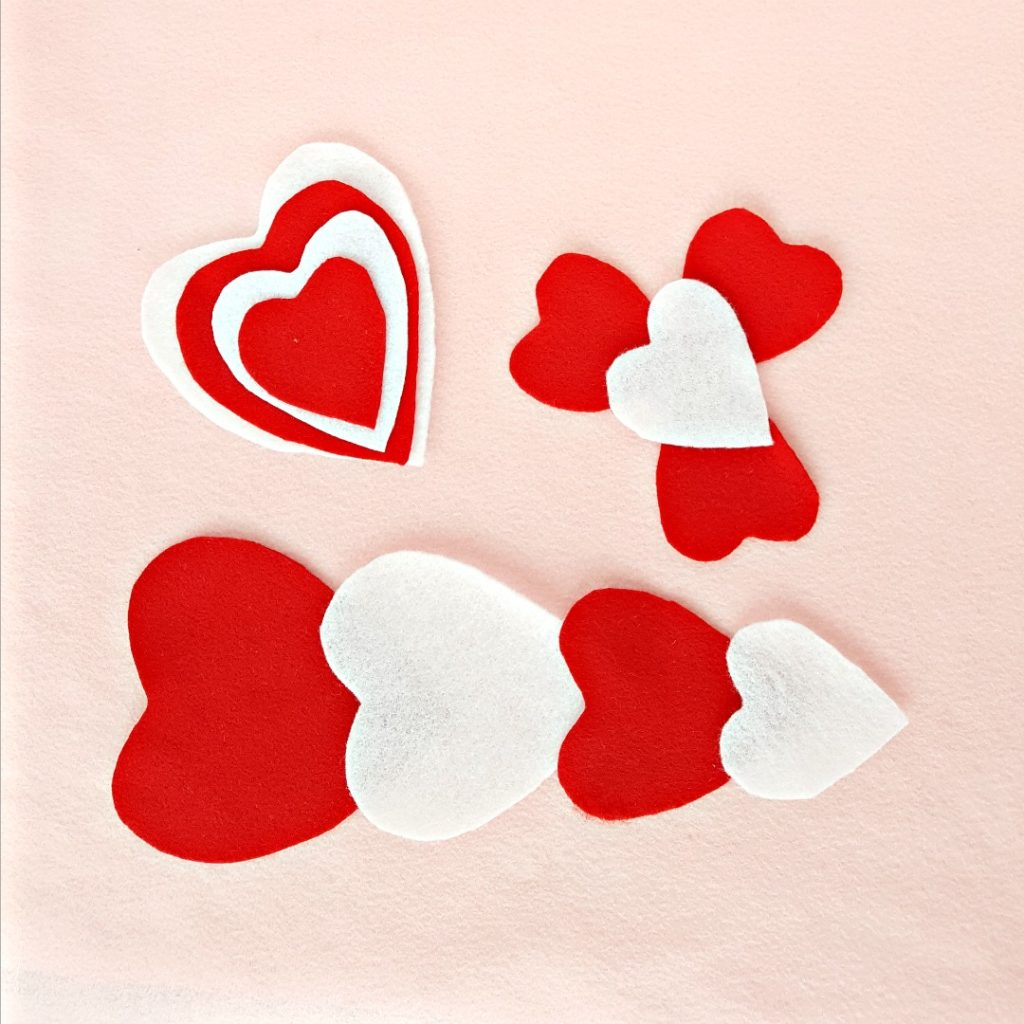 Valentine Hearts Felt Board Activity