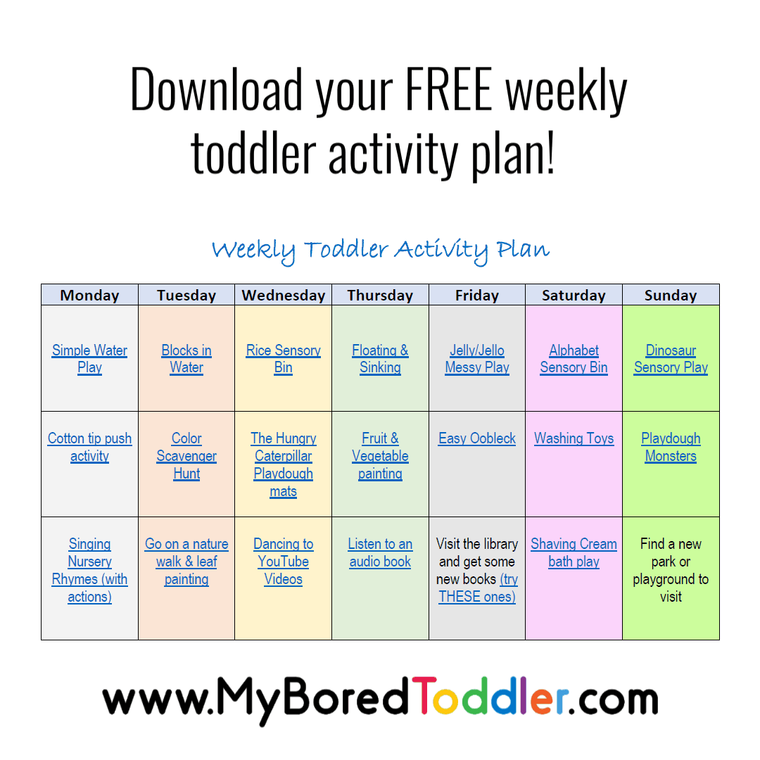 Toddler Activities To Do At Home   My Bored Toddler
