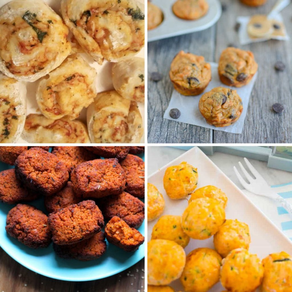 healthy finger foods for toddlers scrolls muffins nuggetts salmon veggie balls