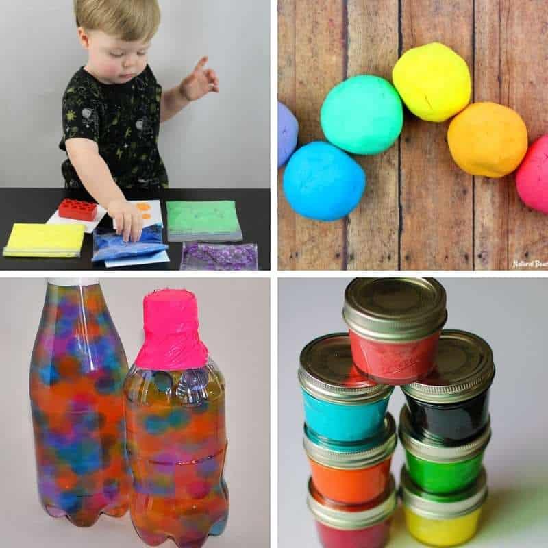 rainbow sensory play ideas for st.patricks day